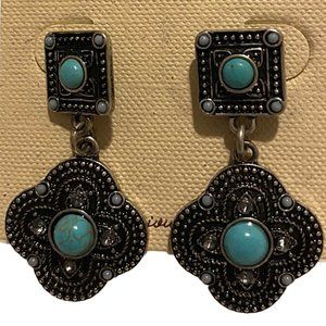 Sonoma Turquoise & Antiqued Silver Earrings